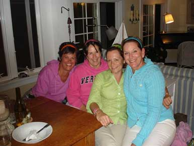 "Here I am with my three ""sistas""."