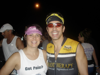 Marion and Ross before the race start – feeling good!