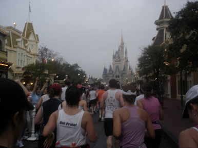 Running through Magic Kingdom.