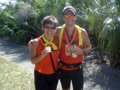 Team PABA – Marion Hauser and Rob Donovan post finish!