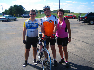 The three newbies after completing their first 100 miler!