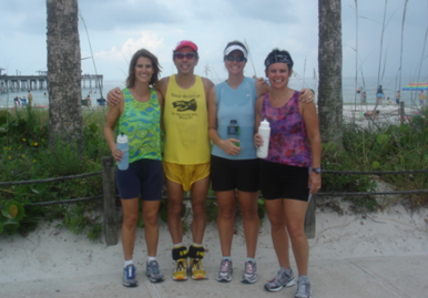 Evette, Ross, Christine, and Marion training in Fort Meyers Beach, FL.